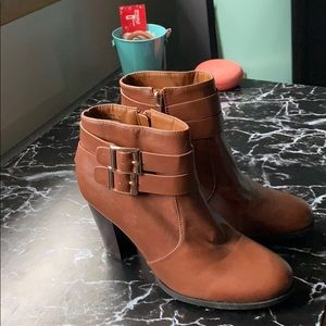 Tan booties. Never worn. Not tags or box.